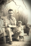 M.M. Bowen with my daddy, circa 1950!  Who said I didn't look like him?