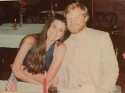 Rehearsal dinner 1981  Cafe de France, WP -- Linda Siddall Eriksson and Leif Eriksson